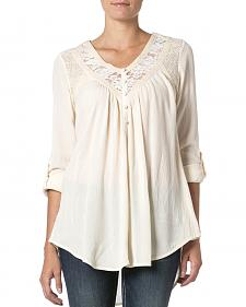 Miss Me Women's Cut-Out Lace Top