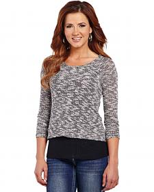 Cowgirl Up Women's Cut-Out Back Sweater Knit Top