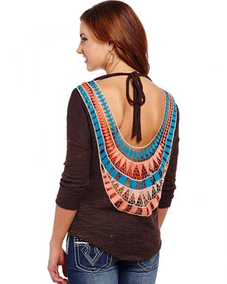 Cowgirl Up Women's Aztec Back Top