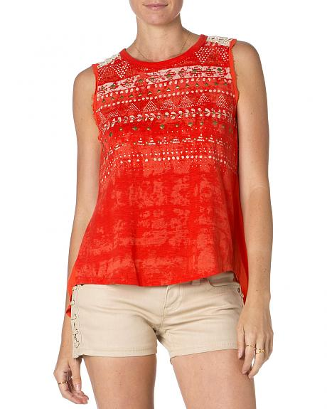 Miss Me Red Studded Tank Top