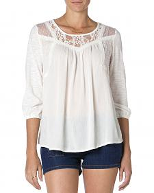 MIss Me Mix-Match Lace 3/4 Sleeve T-Shirt