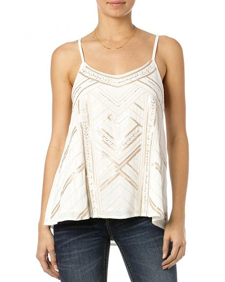 MIss Me Ivory Sequin Cami
