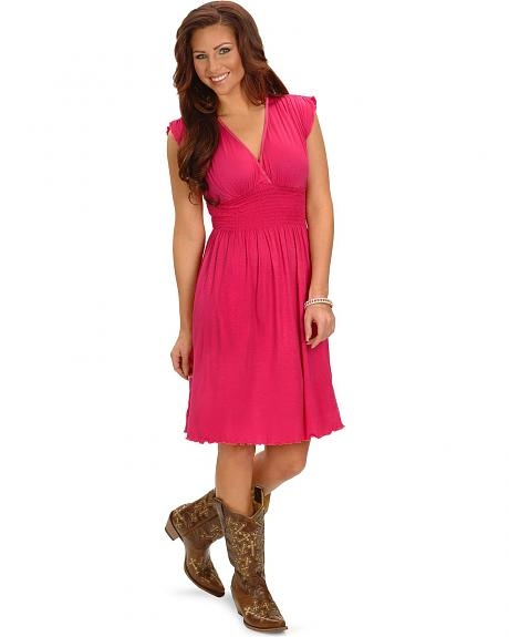 Panhandle Slim Hot Pink Knit Dress