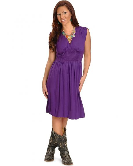 Panhandle Slim Purple Knit Dress