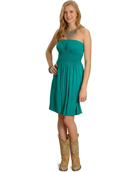 Panhandle Slim Jade Smocked Dress