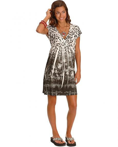 Panhandle Slim Cap Sleeve Animal Print Dress