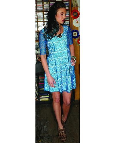 Southern Thread Blue Lace Fit & Flare Dress Western & Country SSK5151000