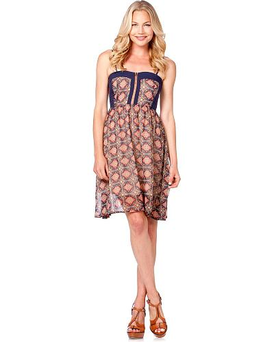 Miss Me Wallpaper Print Spaghetti Strap Dress Western & Country MDD026