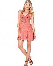 Miss Me Raw Edge Beaded Racerback Dress