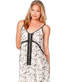 Miss Me Beaded Printed Dress