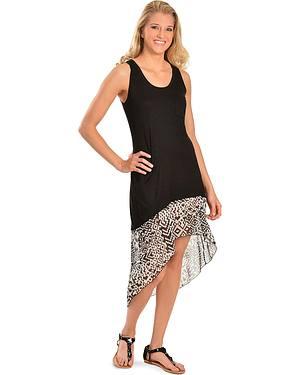 High-Low Sleeveless Chiffon Hem Dress