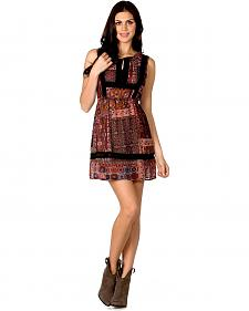Miss Me Woven Lace Trim Dress
