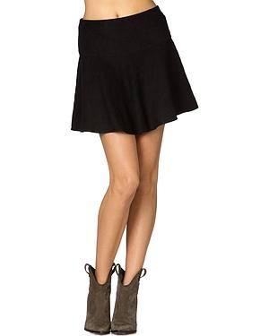 Miss Me Suede Skater Skirt