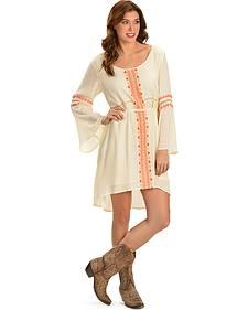 Miss Me Women's Woven Bell Sleeve Dress
