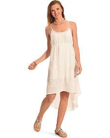 Miss Me Women's White Cross-Back Dress