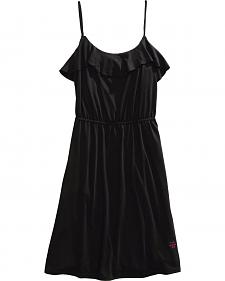 Tin Haul Ruffle Neckline Jersey Knit Dress
