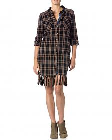 Miss Me Plaid Fringe Dress