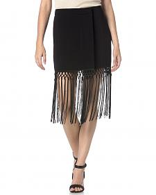Miss Me Black Fringe Skirt