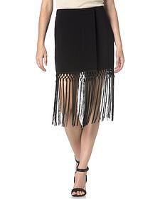 Miss Me Black Fringe Skirt