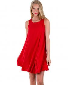 Others Follow Women's Red Laurel Canyon Tunic Dress