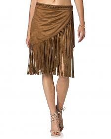 Miss Me Brown Fringe Skirt