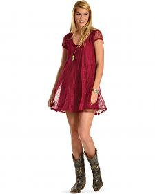 Others Follow Women's Midnight Kiss Lace Tunic Dress