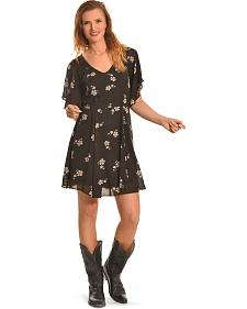 Miss Me Women's Dizzy Daisy Chiffon Dress
