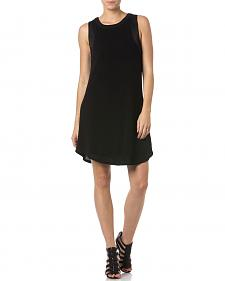 Miss Me Sleeveless Little Black Dress