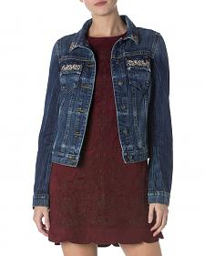 Miss Me Women's Glitterati Denim Jacket