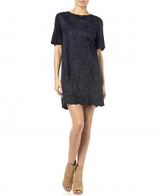 Miss Me Navy Crewneck Dress