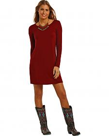 Panhandle Slim Women's Burgundy Swing Dress