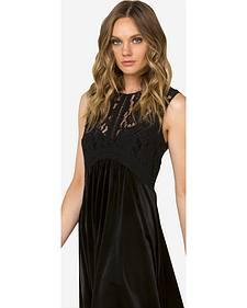 Miss Me Black Lace Sleeveless Dress