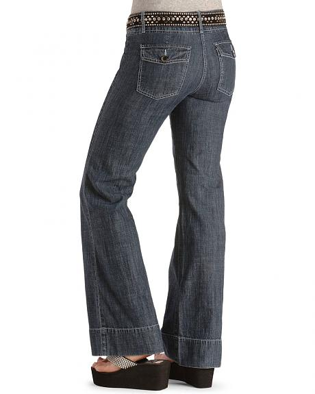 Dark Denim Stove Pipe Jeans - 33