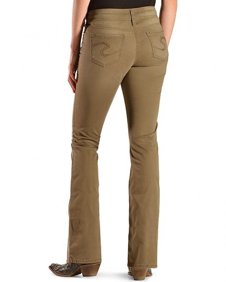 Silver Mid-Rise Suki Bronze Jeans - Curvy Fit