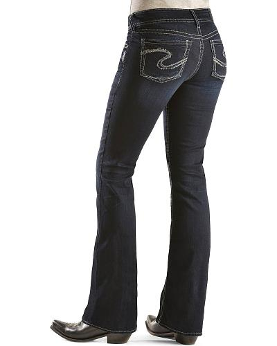 """Silver Jeans Suki Bootcut Jeans 32"""" Western & Country L9516SSF405"""