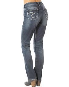 Silver Suki Mid Straight Leg Jeans