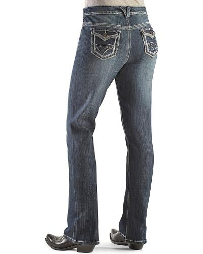 Baccani Womens Stitch Trim Bootcut Jeans Western & Country MCS52358