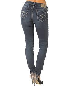Silver Jeans Co. Women's Suki Mid Skinny Joga Jeans