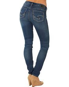 Silver Jeans Co. Women's Suki Mid Super Skinny Joga Jeans