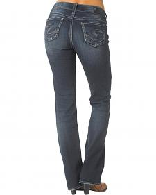 "Silver Women's Suki Mid Slim Bootcut Jeans - 33"" Inseam"