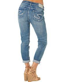 Silver Women's Boyfriend Jeans
