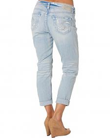 Silver Women's Light Wash Boyfriend Jeans