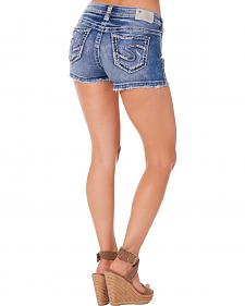 Silver Women's Aiko Mid-Rise Shorts