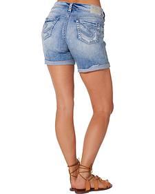 Silver Women's Boyfriend Denim Shorts