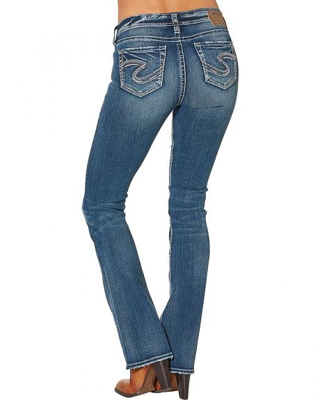 Silver Women's Tuesday Mid Boot Dark Wash Jeans