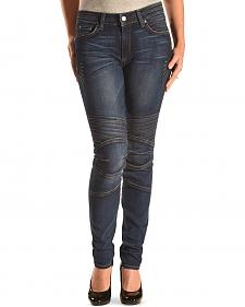 Miss Me Vintage Women's Moto Skinny Stretch Jeans