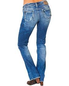 Silver Women's Aiko Mid Dark Wash Bootcut Jeans