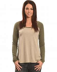 Z Supply Women's Grey Big Hit Baseball Tee