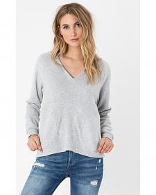 Z Supply Women's Silver The Loft Hoodie