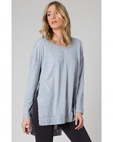 Z Supply Women's Grey Weekend Pullover Shirt